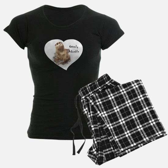 "Cute Otter ""Otterly Adorable"" Funny Quote pajamas"