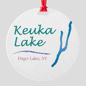 Keuka Lake Round Ornament