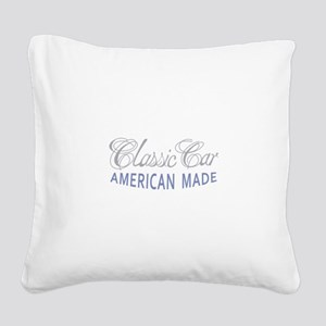 Classic Car American Made Square Canvas Pillow