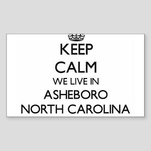 Keep calm we live in Asheboro North Caroli Sticker