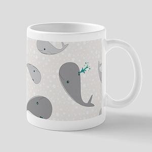 Cute Whale Mom and Baby Pattern Mug