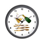 Champagne Party Celebration Wall Clock