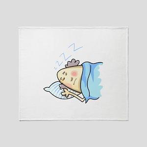 SNORING MAN Throw Blanket