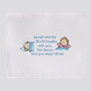 YOU SLEEP ALONE Throw Blanket