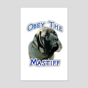 Mastiff Puppy Obey Mini Poster Print