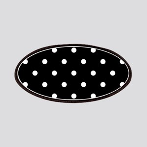 BLACK AND WHITE Polka Dots Patches