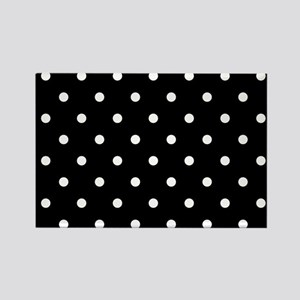 BLACK AND WHITE Polka Dots Magnets