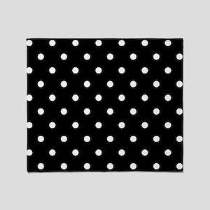 BLACK AND WHITE Polka Dots Throw Blanket