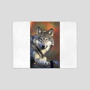 Wolf 024 5'x7'Area Rug