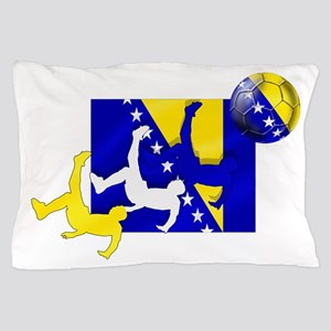 Bosnia Soccer Pillow Case