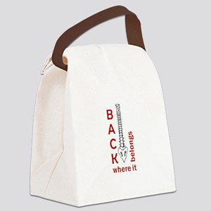 BACK WHERE IT BELONGS Canvas Lunch Bag
