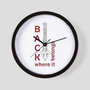 BACK WHERE IT BELONGS Wall Clock