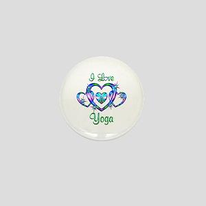 I Love Yoga Mini Button
