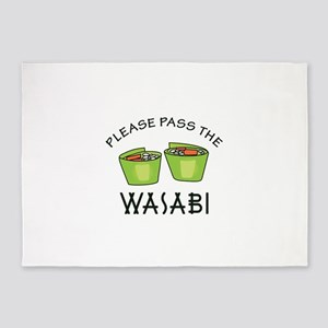 PASS THE WASABI 5'x7'Area Rug
