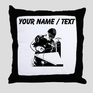 Welder (Custom) Throw Pillow