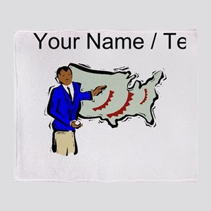 Weather Reporter (Custom) Throw Blanket