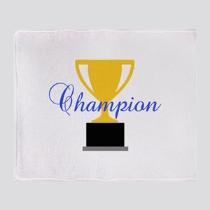 CHAMPION TROPHY CUP Throw Blanket