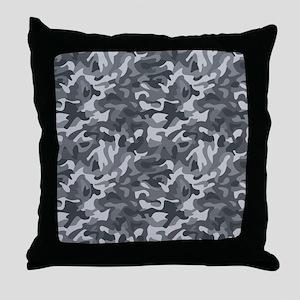Urban Camo Throw Pillow