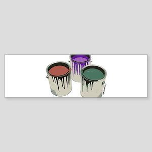 Paint cans Bumper Sticker