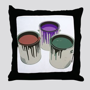 Paint cans Throw Pillow