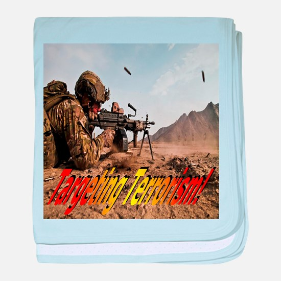Targeting Terrorism! baby blanket