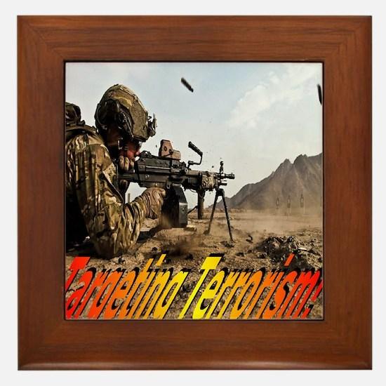 Targeting Terrorism! Framed Tile