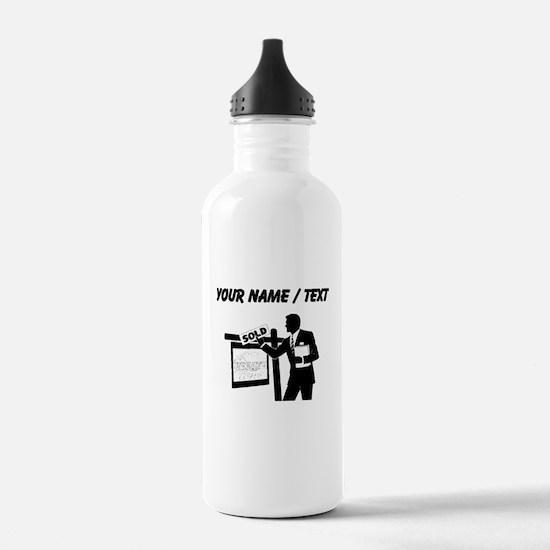 Real Estate Agent (Custom) Water Bottle