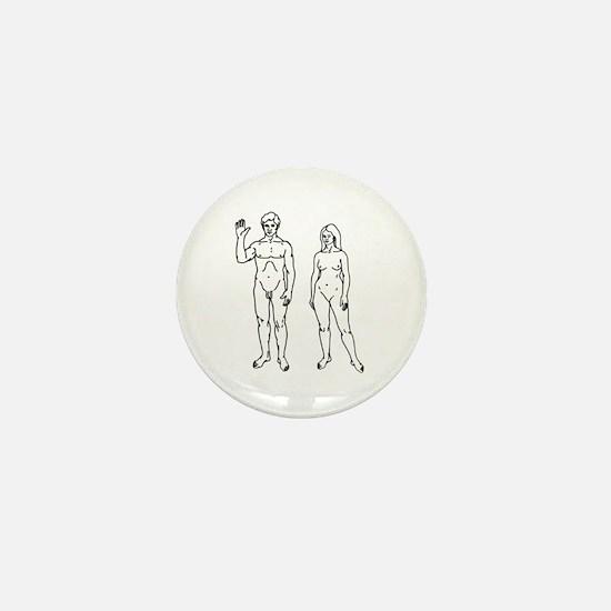 Nude Couple Mini Button