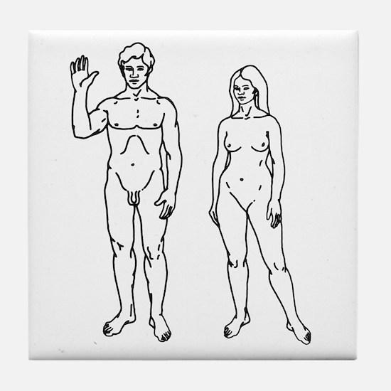 Nude Couple Tile Coaster