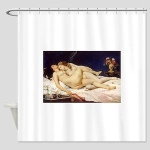 Classic nude art Shower Curtain