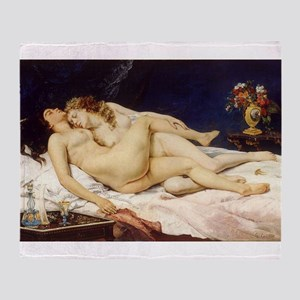 Classic nude art Throw Blanket