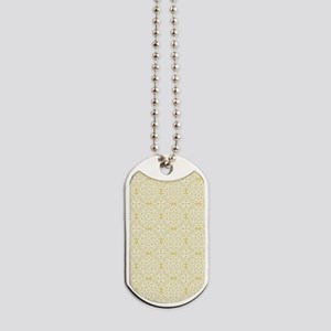 Custard Yellow & White Lace 2 Dog Tags