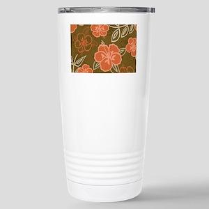 Hawaiian Hibiscus Patte Stainless Steel Travel Mug