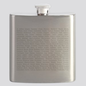 A Million Laughs Flask