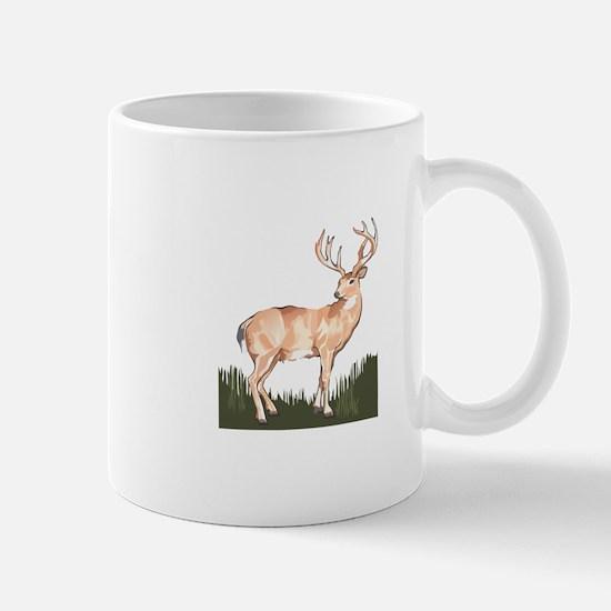 WHITETAIL IN GRASS Mugs