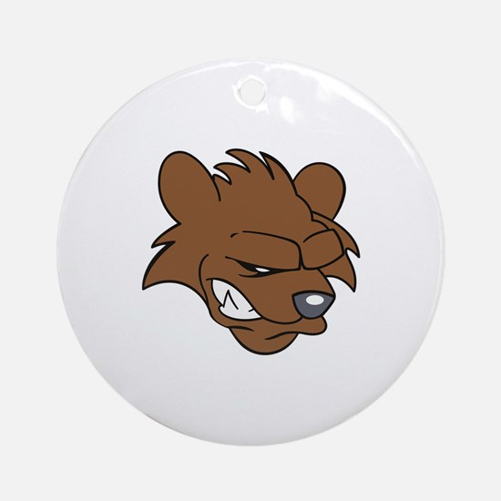 BEAR HEAD Ornament (Round)