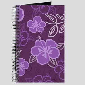 Hawaiian Hibiscus Pattern Purple Journal