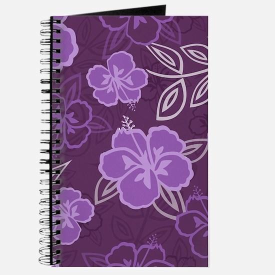 Hawaiian Hibiscus Pattern Purple Journal