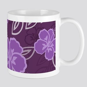 Hawaiian Hibiscus Pattern Purple Mug