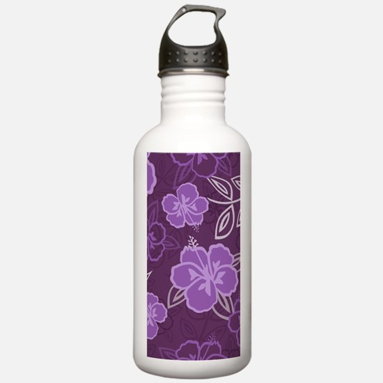 Hawaiian Hibiscus Patt Water Bottle