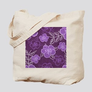 Hawaiian Hibiscus Pattern Purple Tote Bag