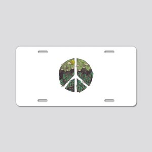Mountain Peace Aluminum License Plate