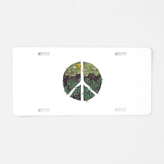 Mountain Peace Aluminum License Plate