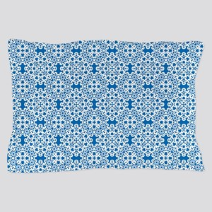 Dazzling Blue & White Lace 2 Pillow Case