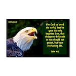 Talking Eagle (right)- John 3:16 Car Magnet 20 x 1