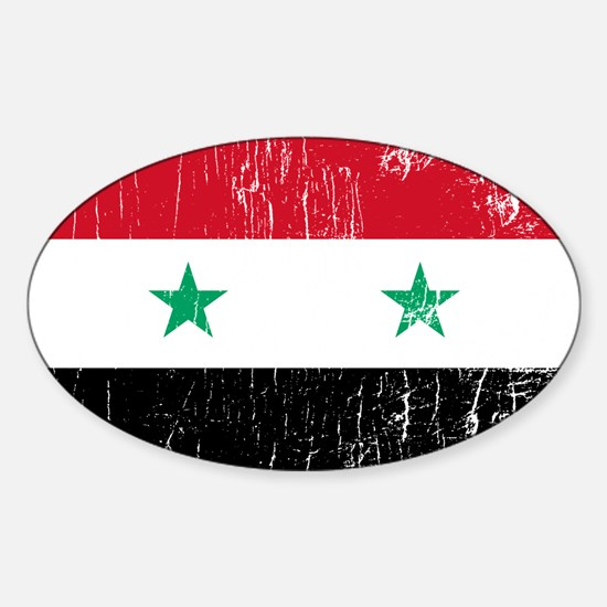 Vintage Syria Oval Decal