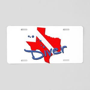 Texas Diver Aluminum License Plate