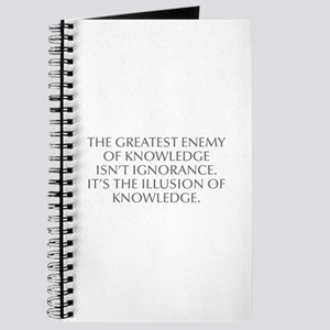THE GREATEST ENEMY OF KNOWLEDGE ISN T IGNORANCE IT