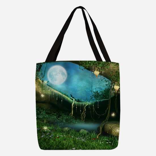 Enchanted Forest Polyester Tote Bag