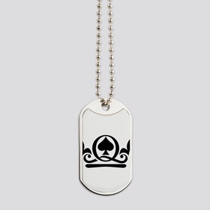 Queen of Spades Crown 02 Dog Tags